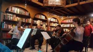 Cuarteto Virá  música de cámara en la librería. El Grafógrafo @ El Grafógrafo   Tijuana   Baja California   México