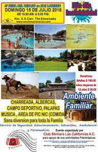 Club Shriners Tijuana invita a la IV Feria de Verano @ Rancho San Lorenzo | Tecate | Baja California | México