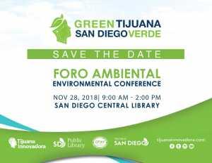 Foro Ambiental: Green Tijuana, San Diego Verde @ San Diego Central Library | San Diego | California | Estados Unidos