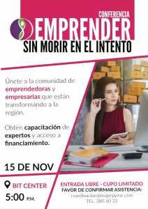 Conferencia:  Emprender sin morir en el intento