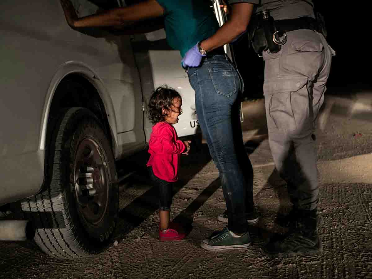 Picture nominated for World Press Photo of the Year at the World Press photo contest shows: Yana, from Honduras, cries as her mother Sandra Sanchez is searched by a US Border Patrol agent, in McAllen, Texas, USA, on 12 June, 2018. John Moore, for Getty Images/World Press Photo handout via REUTERS NO RESALES. NO ARCHIVES