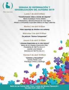 Semana de Información y Sensibilización del Autismo @ Asociación Pro-Autismo | Tijuana | Baja California | México