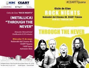 """Rock Nights"" al aire libre en CEART Tijuana: Through The Never"