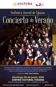 Sinfónica Juvenil de Tijuana: Concierto de Verano en el CECUT, con el Cuarteto José White como invitados especiales