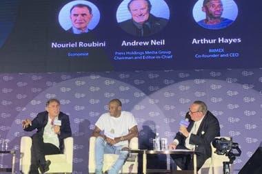Nouriel Roubini y Arthur Hayes debatieron sobre criptomonedas en el Asia Blockchain Summit celebrado el 2 y 3 de julio en Taiwán