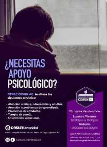 ¿Necesitas apoyo psicológico? DEPAC CESUN AC te puede ayudar