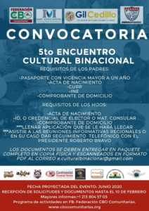 Convocatoria al 5to Encuentro Cultural Binacional