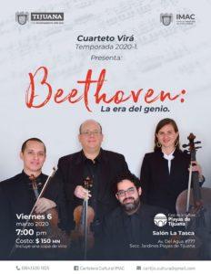 "Cuarteto de cuerdas Virá presenta: ""Beethoven: La Era del Genio"" @ Salon la Tasca | Tijuana | Baja California | México"