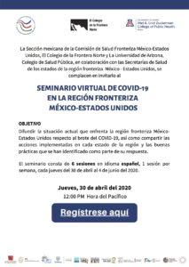 Compartirán especialistas la situación fronteriza respecto al COVID-19