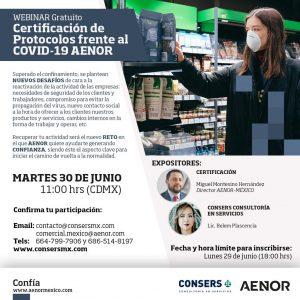 Webinar: Certificación de Protocolos frente al COVID-19