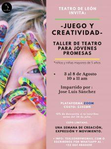 La compañía Teatro de León invita al campamento de Teatro virtual para niños